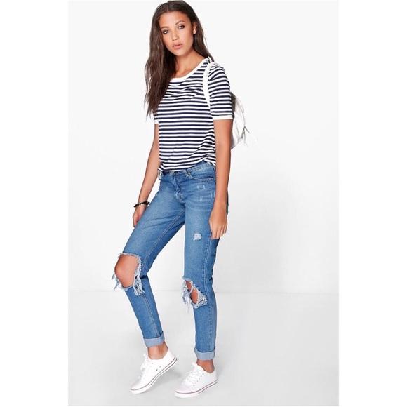 2bba794e8d0f Boohoo Jeans | Tall Jenny Open Knee Slim Boyfriend Jean | Poshmark